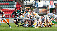 20th February 2021; Welford Road Stadium, Leicester, Midlands, England; Premiership Rugby, Leicester Tigers versus Wasps; Ben Vellacott of Wasps passing the ball after a maul