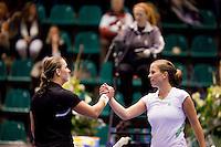 15-12-10, Tennis, Rotterdam, Reaal Tennis Masters 2010, Nicolette van Uitert  verslaat Danielle Harmsen(L) in de eerste poule partij