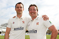 James Foster (L) and Graham Napier of Essex CCC - Essex CCC Press Day at the Ford County Ground, Chelmsford, Essex - 03/04/12 - MANDATORY CREDIT: Gavin Ellis/TGSPHOTO - Self billing applies where appropriate - 0845 094 6026 - contact@tgsphoto.co.uk - NO UNPAID USE.