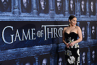 Emilia Clarke @ the Los Angeles premiere of HBO 'Game of Thrones' season 6 held @ the Chinese theatre.<br /> April 10, 2016
