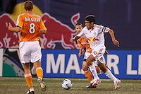 Red Bulls midfielder (10) Claudio Reyna is marked by Houston Dynamo defender (24) Wade Barrett at Giants Stadium, East Rutherford, NJ, on April 21, 2007. The Red Bulls defeated the Dynamo 1-0.