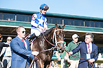 LEXINGTON, KY- APRIL 15: #8 Tepin with jockey Julien Leparoux up wins the 28th running of The Jenny Wiley (Grade I) 350,000 at Keeneland Racecourse in Lexington, Kentucky for trainer Mark E. Casse and owner Robert E. Masterson. (Photo by Samantha Bussanch/Eclipse Sportswire/Getty Images)