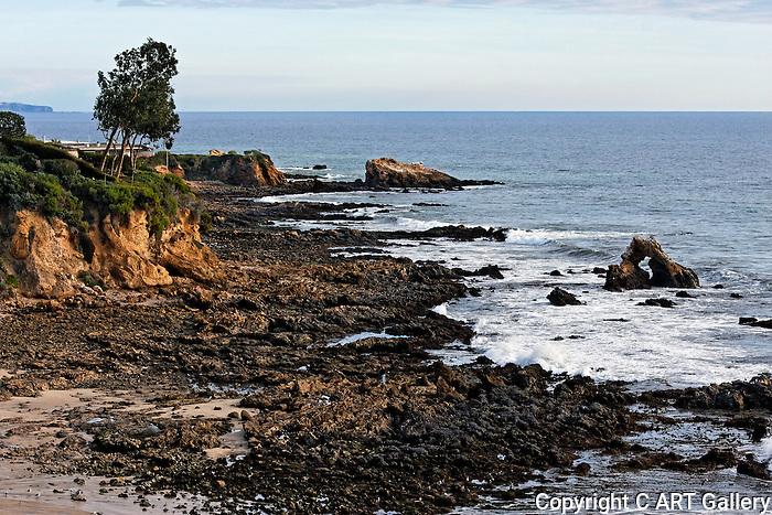 Corona del Mar coastline.