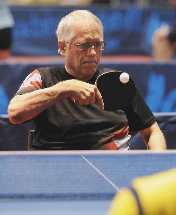 Barry Butler, Guadalajara 2011 - Para Table Tennis // Paratennis de table.<br /> Barry Butler competes in table tennis // Barry Butler fait du tennis de table. 11/14/2011.