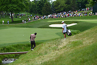 4th June 2021; Dublin, Ohio, USA; Sahith Theegala (USA) chips back across the fairway on 11 during the Memorial Tournament Rd2 at Muirfield Village Golf Club on June 4, 2021 in Dublin, Ohio.