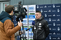 headcoach Angelo Gaytant of Zulte-Waregem  pictured during in interview with Eleven Sport before  a female soccer game between SV Zulte - Waregem and Club Brugge YLA on the 13 th matchday of the 2020 - 2021 season of Belgian Scooore Womens Super League , saturday 6 th of February 2021  in Zulte , Belgium . PHOTO SPORTPIX.BE | SPP | DIRK VUYLSTEKE