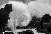 Waves at  Hookaipa Beach. Maui, Hawaii
