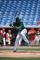 Daytona Tortugas right fielder Aristides Aquino (99) bats during a game against the Clearwater Threshers on April 20, 2016 at Bright House Field in Clearwater, Florida.  Clearwater defeated Daytona 4-2.  (Mike Janes/Four Seam Images)