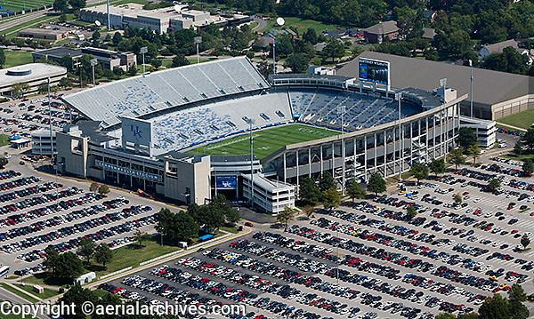 aerial photograph,  University of Kentucky,Commonwealth Stadium, Lexington, Kentucky