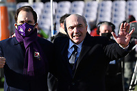 ACF Fiorentina president Rocco Commisso (R) and his son Joseph prior to the Italy Cup round of 16 football match between ACF Fiorentina and FC Internazionale at Artemio Franchi stadium in Firenze (Italy), January 13th, 2021. Photo Andrea Staccioli / Insidefoto