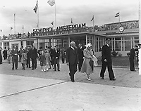 Prince Bernhard is joining the first KLM flight to Canada. Keywords: airline Location: Schiphol; North Holland Date: May 29, 1949