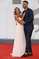 """VENICE, ITALY - SEPTEMBER 10: Claudia Dionigi and Lorenzo Riccardi  on the red carpet for the movie """"Un Autre Monde"""" during the 78th Venice International Film Festival on September 10, 2021 in Venice, Italy.<br /> CAP/GOL<br /> ©GOL/Capital Pictures"""