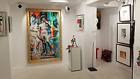 Pictured: Interior view of the Eden Gallery.<br /> Re: Nammos village at Psarou beach on the island of Mykonos, Greece.