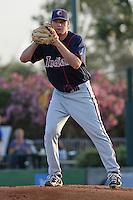 Alex White #36 of the Kinston Indians pitching in  a game against the Myrtle Beach Pelicans on May 12, 2010 in Myrtle Beach, SC.