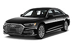 2019 Audi A8-L - 4 Door Sedan Angular Front automotive stock photos of front three quarter view