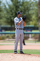 AZL Padres 2 relief pitcher Felix Minjarez (41) looks in for the sign during an Arizona League game against the AZL Dodgers at Camelback Ranch on July 4, 2018 in Glendale, Arizona. The AZL Dodgers defeated the AZL Padres 2 9-8. (Zachary Lucy/Four Seam Images)