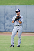 AZL Padres 2 right fielder Mason House (40) on defense against the AZL Brewers on September 2, 2017 at Maryvale Baseball Park in Phoenix, Arizona. AZL Brewers defeated the AZL Padres 2 2-0. (Zachary Lucy/Four Seam Images)