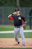 Miami Marlins Taylor Munden (74) during practice before a minor league Spring Training intrasquad game on March 31, 2016 at Roger Dean Sports Complex in Jupiter, Florida.  (Mike Janes/Four Seam Images)