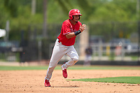 Philadelphia Phillies Kervin Pichardo (27) running the bases during an Extended Spring Training game against the New York Yankees on June 22, 2021 at the Carpenter Complex in Clearwater, Florida. (Mike Janes/Four Seam Images)
