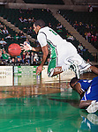 North Texas Mean Green guard Brandan Walton (2) in action during the game between the New Orleans Privateers and the University of North Texas Mean Green at the North Texas Coliseum,the Super Pit, in Denton, Texas. UNT defeated UNO 78 to 47.....