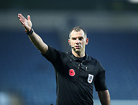7th November 2020; Ewood Park, Blackburn, Lancashire, England; English Football League Championship Football, Blackburn Rovers versus Queens Park Rangers; match referee Tim Robinson wearing a shirt with a Remembrance Day Poppy on his chest