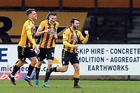 U's Wes Hoolahan celebrats after equalising during Cambridge United vs Leyton Orient, Sky Bet EFL League 2 Football at Abbey Stadium on 26th December 2020