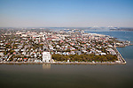 Historic Battery Row in Downtown Charleston South Carolina Aerial Photograph