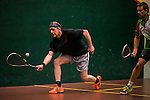 Trent Haase of Canada and Scott Ferrier of Australia in action at the center court during the World Masters Squash Championships 2014 on 06 July 2014 at the Hong Kong Squash Centre in Hong Kong, China. Photo by Victor Fraile / Power Sport Images
