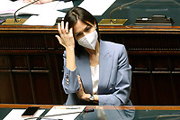 The Minister of South Mara Carfagna at the Chamber of Deputies during the discussion and vote of confidence in the new Government. Rome (Italy), February 18th 2021<br /> Photo Samantha Zucchi Insidefoto