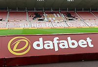 Dafabet who are shirt sponsors for Sunderland have made them the favourites to be relegated to the Championship during the Barclays Premier League match between Sunderland and Swansea City played at Stadium of Light, Sunderland