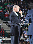 North Texas Mean Green head coach Johnny Jones in action during the NCAA  basketball game between the Arkansas State Red Wolves and the University of North Texas Mean Green at the North Texas Coliseum,the Super Pit, in Denton, Texas. UNT defeated Arkansas State 83 to 64..