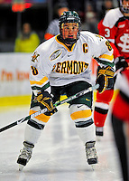 3 January 2009: University of Vermont Catamount forward and Team Captain Dean Strong, a Senior from Mississauga, Ontario, in action against the St. Lawrence Saints during the championship game of the Catamount Cup Ice Hockey Tournament at Gutterson Fieldhouse in Burlington, Vermont. The Cats defeated the Saints 4-0 and won the tournament for the second time since its inception in 2005...Mandatory Photo Credit: Ed Wolfstein Photo