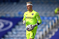 Portsmouth keeper Craig MacGillivray wears a bandage on his head after a clash of heads during Portsmouth vs MK Dons, Sky Bet EFL League 1 Football at Fratton Park on 10th October 2020