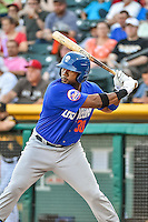 Brandon Allen (30) of the Las Vegas 51s at bat against the Salt Lake Bees in Pacific Coast League action at Smith's Ballpark on June 25, 2015 in Salt Lake City, Utah.  Las Vegas defeated Salt Lake 20-8. (Stephen Smith/Four Seam Images)
