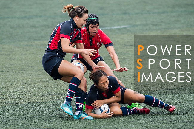 Cheng Tsz Ting of Dragons (R) in action during the Women's National Super Series 2017 on 13 May 2017, in Hong Kong Football Club, Hong Kong, China. Photo by Marcio Rodrigo Machado / Power Sport Images