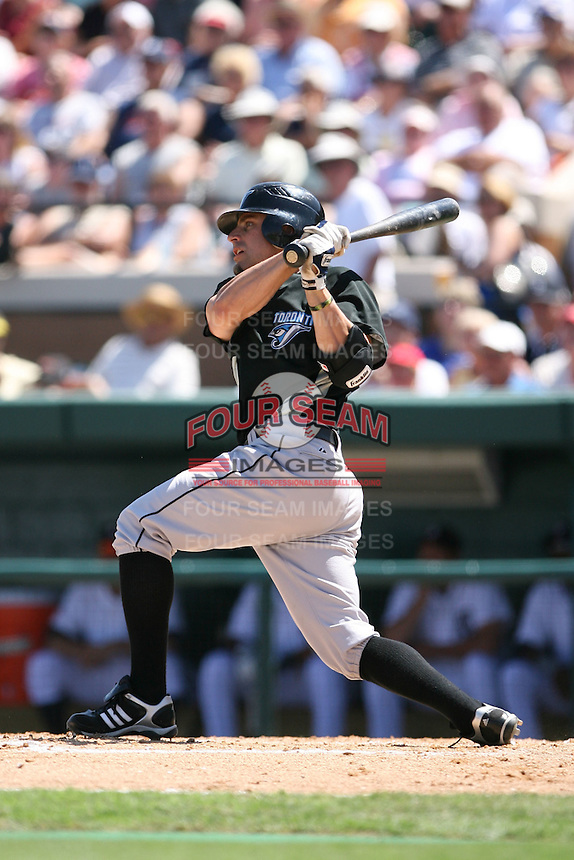 March 21st 2008:  Reed Johnson of the Toronto Blue Jays during Spring Training at Joker Marchant Stadium in Lakeland, FL.  Photo by:  Mike Janes/Four Seam Images