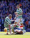 12.05.2019 Rangers v Celtic: Scott Arfield tackles Scott Brown