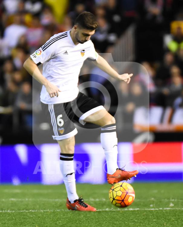 Valencia's    Guillherme Siqueira   during La Liga match. February 13, 2016. (ALTERPHOTOS/Javier Comos)