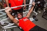 Beaudein Waaka. Gym session. 13 May 2015. London, England. Photo: Marc Weakley