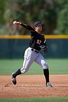 Pittsburgh Pirates Trace Tam Sing (97) during a minor league Spring Training intrasquad game on April 3, 2016 at Pirate City in Bradenton, Florida.  (Mike Janes/Four Seam Images)