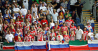 Russia fans during the quarter-final World championship basketball match against USA in Istanbul, USA-Russia, Turkey on Thursday, Sep. 09, 2010..