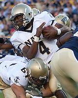 Navy quarterback Ricky Dobbs (4). The Pittsburgh Panthers defeated the Navy Midshipmen 27-14 at Heinz Field, Pittsburgh, PA.