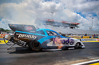Jul 10, 2020; Clermont, Indiana, USA; NHRA funny car driver Blake Alexander during testing for the Lucas Oil Nationals at Lucas Oil Raceway. This will be the first race back for NHRA since the COVID-19 pandemic. Mandatory Credit: Mark J. Rebilas-USA TODAY Sports