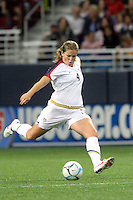 USA (4) Cat Whitehill. The United States Women's National Team defeated Mexico 5-1 in an international friendly at the Edward Jones Dome in St Louis, MO on October 13, 2007.