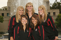 STANFORD, CA - OCTOBER 1:  Alex Bollaidlaw, Morgan Fuller, Maria Koroleva, Olivia Morgan, and Koko Urata during picture day on October 1, 2008 in Stanford, California.