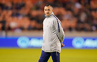 HOUSTON, TX - JANUARY 31: US Women's national team coach Vlatko Andonovski during a game between Panama and USWNT at BBVA Stadium on January 31, 2020 in Houston, Texas.