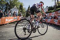 Demi De Jong (NED/Lotto Soudal Ladies) up the Mur de Huy.<br /> <br /> 21st La Flèche Wallonne Femmes <br /> 1 day race: Huy - Huy (118,5KM)