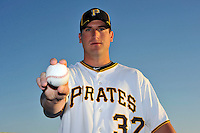 Feb 28, 2010; Bradenton, FL, USA; Pittsburgh Pirates  pitcher Brad Lincoln (32) during  photoday at Pirate City. Mandatory Credit: Tomasso De Rosa/ Four Seam Images