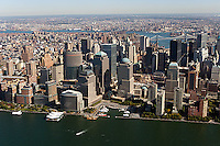 aerial photograph World Trade Center, Manhattan, New York City