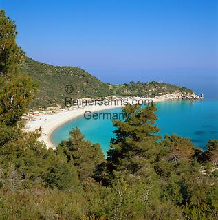 Greece, Central Macedonia, Chalkidiki, Sithonia: community on Sithonia Peninsula, Armenistis Beach | Griechenland, Zentralmakedonien, Chalkidiki, Sithonia: Gemeinde auf der Halbinsel Sithonia, Armenistis Beach